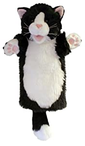 Long Sleeved Glove Puppet - Black and White Cat