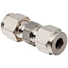 "Parker 4SC4-316 316 Stainless Steel A-LOK Union 1/4"" Compression Fitting 1/4"" Compression"