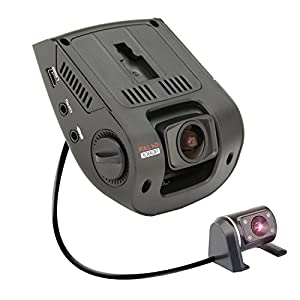 Rexing V1P 2.4 LCD FHD 1080p 170 Degree Wide Angle Dual Channel Dashboard Camera Recorder Car Dash Cam with Rear Camera, G-Sensor, WDR, Loop Recording