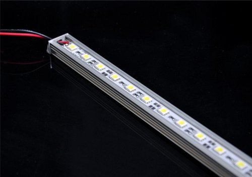 Hkbayi 10 X 5050 0.5M Led Bar Rigid Aluminum Led Strip Light Ultra Slim 12V Dc 50Cm Smd5050 36-Smd For Cabinet Light Bar/Caravan/Boat With Aluminum Housing