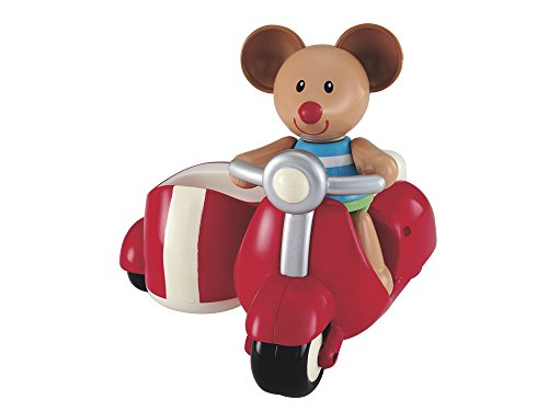 Early Learning Centre Toybox Max Mouse and Scooter Baby Toy - Auditory and Tactile Interaction For Children -Engages and Employs Creativity - For On-The-Go or At-Home Play - Ages 12 Months and Up