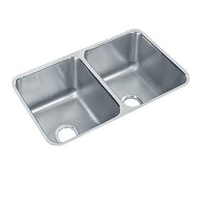 Elkay ELUH311810 Gourmet Lustertone Undermount Sink, Stainless Steel
