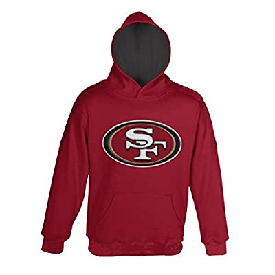 San Francisco 49ers Youth Primary Gear Red Hooded Sweatshirt