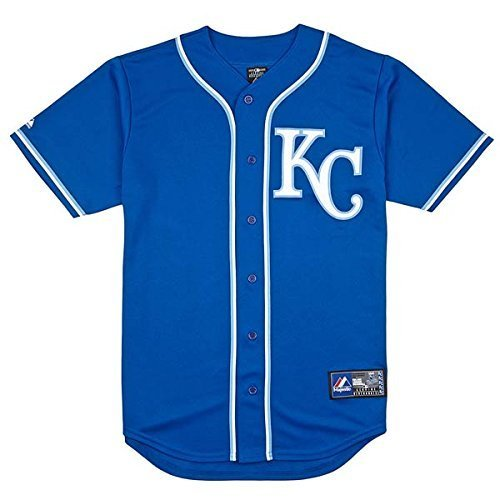 MLB Kansas City Royals Replica Alternate Baseball Jersey (Majestic Athletic) (Medium)