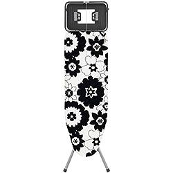 Rolser K-TRES Flor - Tabla de planchar, color blanco y negro
