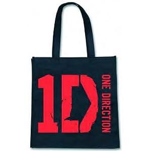 One Direction Logo Eco Shopping Bag / Gift Bag - Black (Official 1D Merchandise)