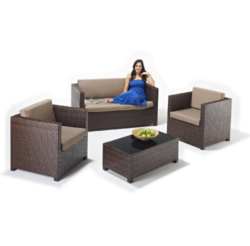 Rattan Garden Sofa Set - The Santiago Furniture Suite - FREE DELIVERY