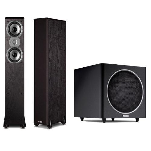 Polk Audio Tsi300 Floorstanding Speakers (Pair) Plus A Polk Audio Psw110 10-Inch Powered Subwoofer