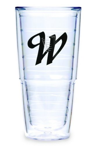 Tervis Tumbler Black Laser Twill Initial - W 24-Ounce Double Wall Insulated Tumbler Set Of 2 front-927848