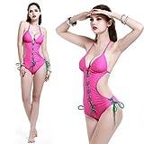 XARA de manera atractivo nuevo diseño de una sola pieza de las mujeres del traje de baño de una varieat de colores para decorar la cuerda , Pink , S