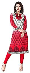 SANVARI FASHION Women's Crepe Straight Kurta (Event114-C, Multi-Coloured, S)