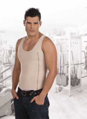 Waist Cincher MAN'S T-SHIRT REDUCES WAIST & ABDOMEN LUMBAR POSTURE CORRECTOR. Slimmer Clothing Men's Shapewear Body-Shaper Garments - Fajas Colombianas