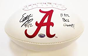 Eddie Lacy Signed Football - Alabama Logo Champs - Autographed College Footballs by Sports+Memorabilia