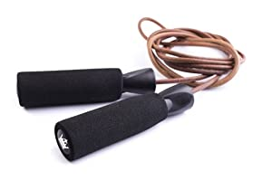 #1 Rated Leather Jump Rope for Cardio Fitness Training - Great Boxing and CrossFit Speed Workout - Best Exercise for Heart Health - Jumping Rope for Adults and Kids - Awesome Skipping Rope made with Genuine Leather - Protect Your Investment - Skip Rope comes with 5-year Guarantee