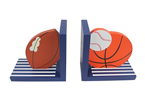 Hoddmimis Home & Living Wooden Bookends for Kids (Balls Themed,Set of 2)