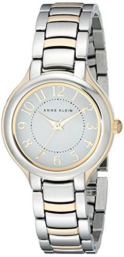 Anne Klein Women's AK/2009WTTT Easy To Read Dial Two-Tone Bracelet Watch