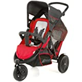 Hauck FreeRider Stroller, Red/Black (Discontinued by Manufacturer)
