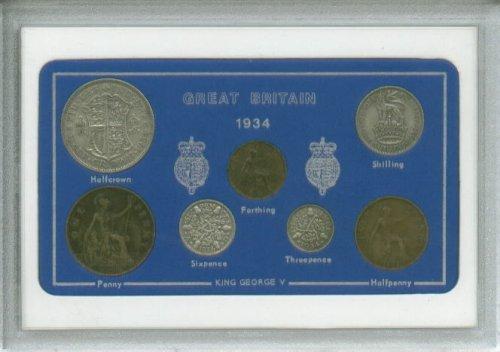 1934 British Coin Birth Year Gift Set (79th Birthday Present or Wedding Anniversary)