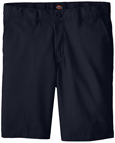 Dickies Khaki Big Boys' Flex Waist Stretch Flat Front Short, Dark Navy, 12 Husky