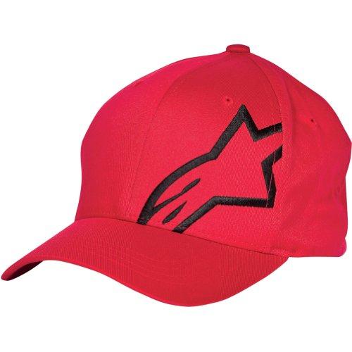 Alpinestars Corp Shift 2 Men's Flexfit Sports Wear Hat - Red/Black / Small/Medium