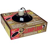 Zoo Med Deluxe Dimmable Clamp Lamp with 10-Inch Dome, Black