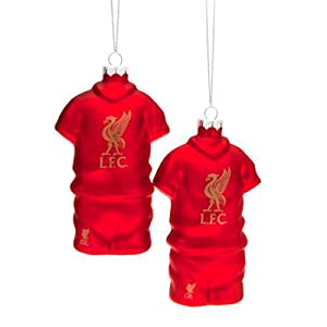 Liverpool F.c. 2pk Shirt Baubles Christmas Gift Idea by GiftRush