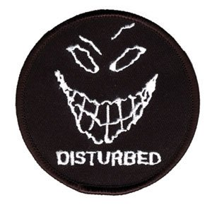 Disturbed Evil Grin / Smile Face Music band Logo Iron on Applique Patch