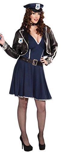 Forum Novelties Women's Plus-Size Lady Cop Plus Size Costume, Navy/Black, Plus