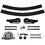 "Supreme Suspensions - Ranger Lift Kit Adjustable 1"" - 3"" Front Suspension Lift + 2"" Rear Suspension Lift High-Strength Carbon Steel Ford Ranger Leveling Kit 4WD 4x4 Kit (Black) PRO"