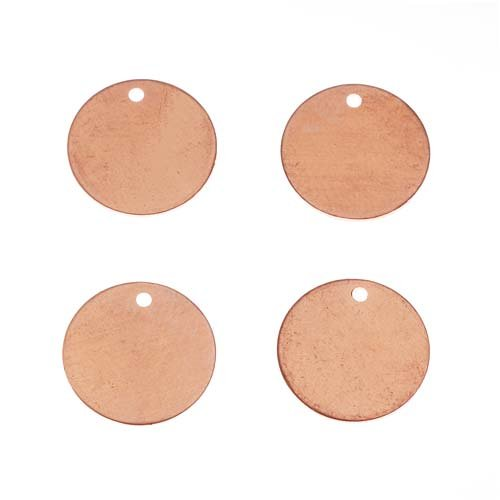 Solid Copper Stamping Blank Small Circle Pendants 11mm (4)