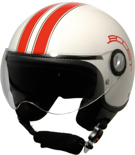 BS02435 - Casque Boost B730 Retro 2 Blanc/Rouge L