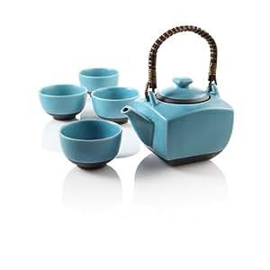 Teavana biwa blue teapot set tea services tea sets - Teavana teapot set ...