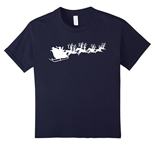 [Kids Santa Claus And Reindeer Christmas Holidays T-Shirt White 10 Navy] (Plus Size Simply Santa Costumes)
