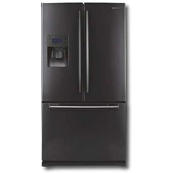 Samsung Refrigerator With French Doors, 26 Cu. Ft. Black - Samsung RF267AEABBP