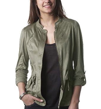 Promod Veste femme Kaki clair 44: Vêtements et accessoires