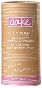 Cake Beauty Satin Sugar Mini Hair & Body Refreshing Powder for Lighter Hues
