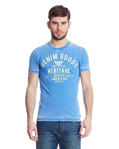 American People T-Shirt Manica Corta Goods [Blu]