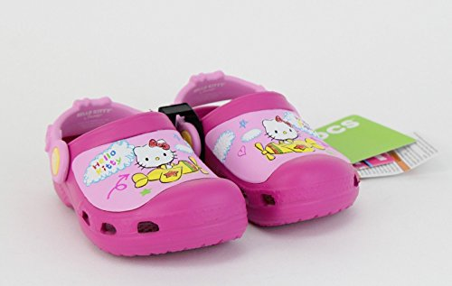 Crocs CC Hello Kitty Plane NA Clog (Toddler/Little Kid),Fuchsia,8 M US Toddler