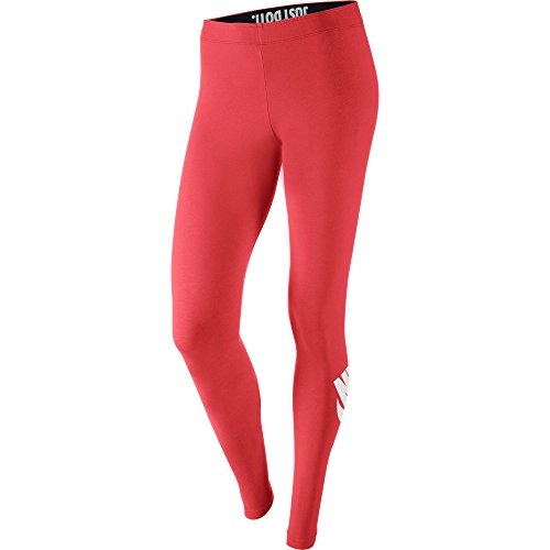 Nike Leg-A-See Logo Women's Leggings Daring Red/White 615049-647 (Size L)