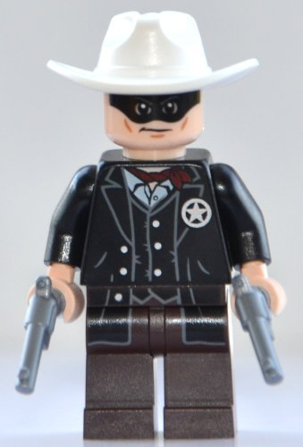 Lego Minifigure: Lone Ranger with 2 Silver Revolvers (2013 Version) - 1