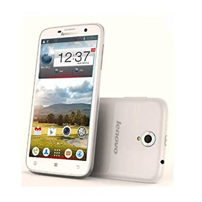 5.5-Inch Unlocked Lenovo A850 3G Smartphone-(960x540) Quad Core 4GB MT6582m 1331MHz Android 4.2 Dual Camera +Dual SIM -White(Rooted + Google Play)