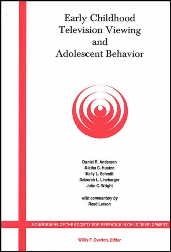 Early Childhood Television Viewing And Adolescent Behavior: Monographs Of The Society For Research In Child Development back-14523