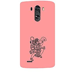 Skin4gadgets Lord Hanuman Balaji - Line Sketch on English Pastel Color-Peach Phone Skin for LG G3 (D851,855,830)