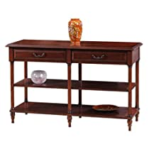Big Sale Leick 10833 Claridge Cherry Tier Sofa Table