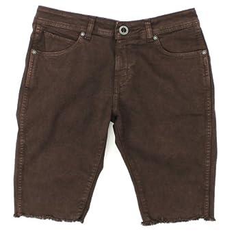 Volcom - FRAYER JEAN CUTOFF Mens Denim Shorts, Size: 40, Color: Sulfur Brown