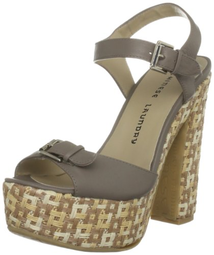 Chinese Laundry Women's Pacific Taupe Ankle Strap 5052125691910 5 UK