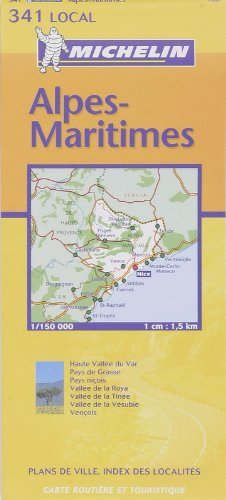 Alpes-Maritimes: Includes Plans for Nice, Cannes (Michelin Local France, No. 341) (French Edition)