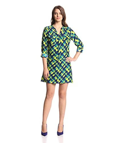 Alice & Trixie Women's Kai Pop Plaid Silk Tunic Dress