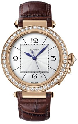 Cartier Pasha Diamond 18kt Rose Gold Mens Watch WJ120051