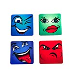 The Crazy Me Emoticon Coaster Set